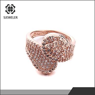 Γυναικεία Δακτύλιος Δήλωσης Χρυσό Ασημί Rose Gold Ζιρκονίτης Cubic Zirconia Επιμεταλλωμένο με Πλατίνα Προσομειωμένο διαμάντι Μοντέρνα