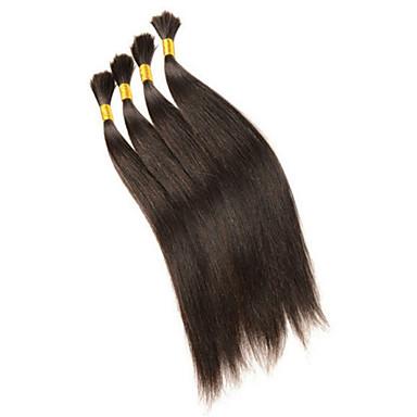 Человека ткет Волосы Индийские волосы Прямые 3 предмета волосы ткет