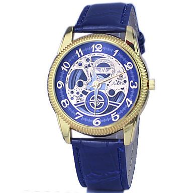 Hommes Montre Bracelet Quartz Gravure ajourée Polyuréthane Bande Noir Blanc Bleu Marron Blanc Noir Café Bleu