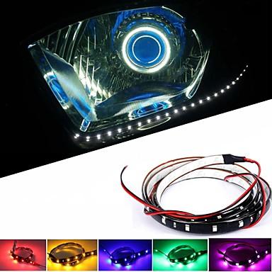 10pcs 30cm 1.5W DC 12V kırmızı, sarı, mavi, yeşil, beyaz dekorasyon, otomobil şasi ışıkları, orta ızgara araba farları