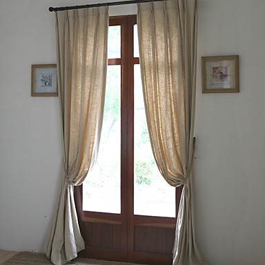 Schlaufen für Gardinenstange Ösen Schlaufen Zweifach gefaltet zwei Panele Window Treatment Modern Designer Europäisch Mediterran Landhaus