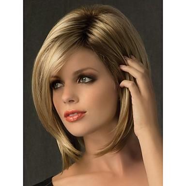 Парики из искусственных волос Прямой С чёлкой плотность Без шапочки-основы Жен. Карнавальный парик Парик для Хэллоуина Парик из