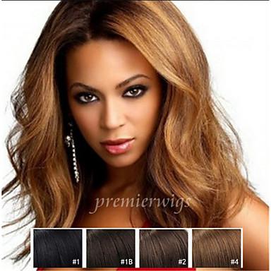 Echthaar Vollspitze / Spitzenfront Perücke Natürlich gewellt 130% Dichte Natürlicher Haaransatz / Afro-amerikanische Perücke / 100 % von
