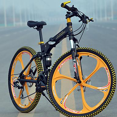 voordelige Fietsen-Mountain Bike / Vouwfietsen Wielrennen 27 Speed 66.0 cm / 700CC MICROSHIFT TS70-9 Schijfrem Geveerde voorvork Achtervering Normale Alumiiniseos
