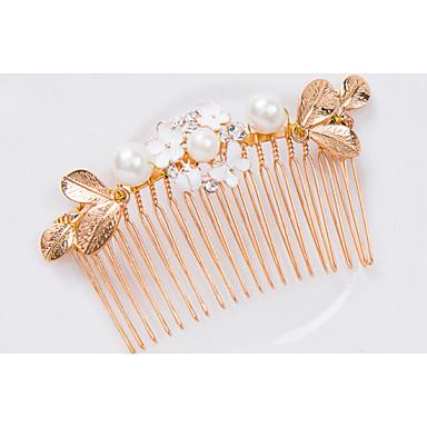 Kobiety Perła Stop Winieta-Ślub Piękny Hair Combs 1 sztuka