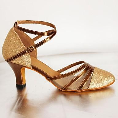 Персонализируемая Для женщин Латина Обувь для стандарта Дерматин На высоких каблуках Сандалии Для начинающих Для закрытой площадкиС