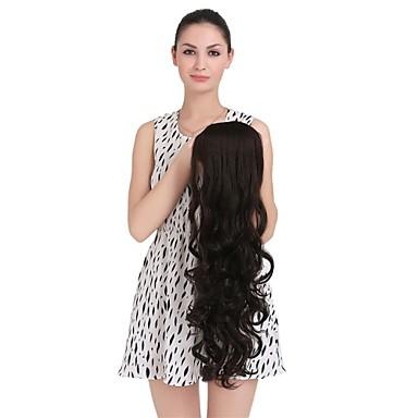 На клипсе Кудрявый Волосы Наращивание волос 28 дюйм Черный Темно-коричневый # 18 #P27.613