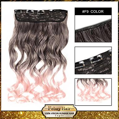 odporność na wysoką temperaturę w dwóch odcieniach: 24 cale 5 klip przedłużające sztuczne włosy 16 kolorów dostępna f9