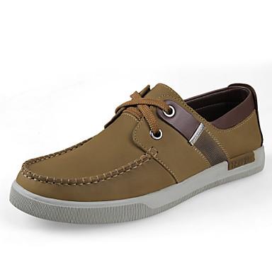 Erkek Ayakkabı Tüylü Bahar Yaz Sonbahar Kış Rahat Yenilikçi Bağcıklı Uyumluluk Atletik Günlük Kahverengi Haki
