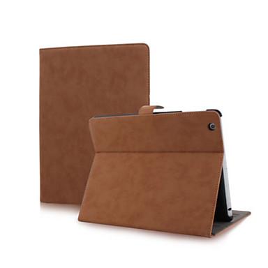 Uyumluluk Kılıflar Kapaklar Satandlı Oto Uyu / Uyan Manyetik Tam Kaplama Pouzdro Tek Renk PU Deri için iPad 4/3/2
