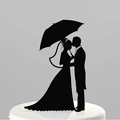 Kakepynt Hage Tema Klassisk Tema Akryl Bryllup jubileum Utdrikningslag med 1 OPP