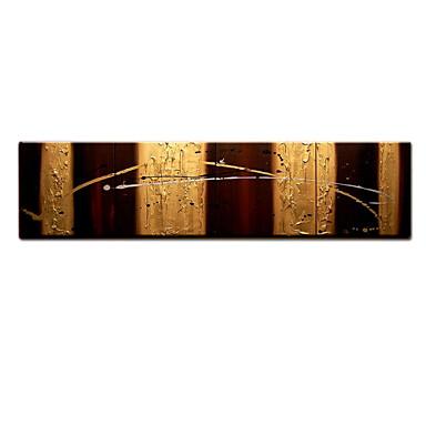 El-Boyalı Soyut Fantezi Yatay Panoramik, Modern Tuval Hang-Boyalı Yağlıboya Resim Ev dekorasyonu Dört Panelli