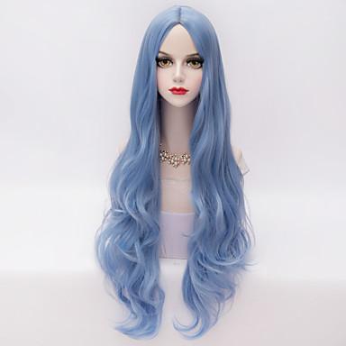 Парики из искусственных волос Волнистый / Свободные волны Искусственные волосы Прямой пробор Парик Жен. Очень длинный Парик для Хэллоуина