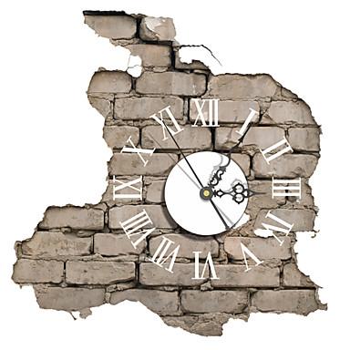 pag®modern σχεδιασμό 3D αποτέλεσμα μοτίβο τούβλο αυτοκόλλητο ρολόι 14.79 * 15.43 στην