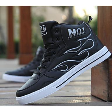 Для скейтбординга Черный / Белый / Серый Обувь Мужской Дерматин
