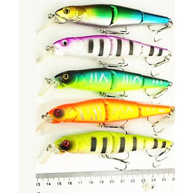 5pcs stk Hard Agn Elritse Sluk Elritse Hard Lokkemat Hard Plastikk Søfisking Ferskvannsfiskere Bass Fiske
