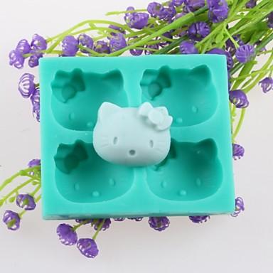 cztery głowy zwierzęce formy czekoladowe ciasto kremówki, narzędzia silikonowe dekoracji pieczenia
