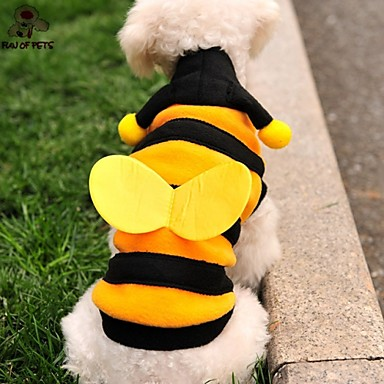 Katze / Hund Kostüme / Kapuzenshirts Hundekleidung Tier Gelb Polar-Fleece Kostüm Für Haustiere Herrn / Damen Cosplay