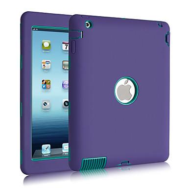 Pouzdro Uyumluluk iPad 4/3/2 Şoka Dayanıklı Toz Geçirmez Su Resisdansı Tam Kaplama Kılıf Tek Renk Silikon için