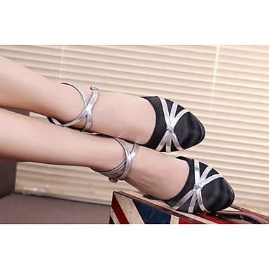 Women's Dance Shoes new summer Latin shoes ladies with adult soft bottom ballroom dancing shoes and sandals