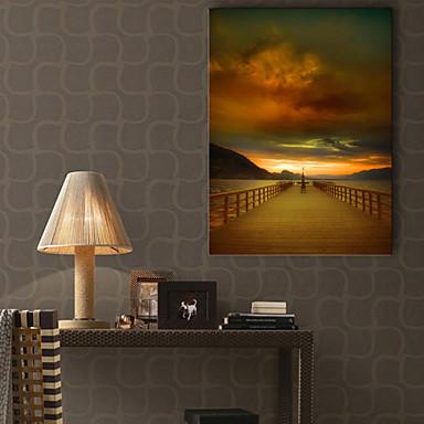 Pingoitetut kanvasprintit Maisema 1 paneeli Pysty Painettu Wall Decor Kodinsisustus