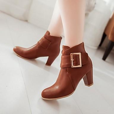 Kadın's Ayakkabı Yapay Deri Kış Bahar Sonbahar Kalın Topuk 2