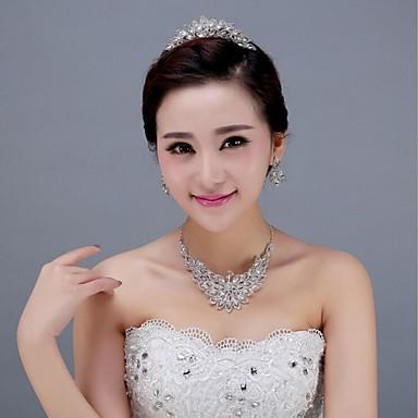 elmas saplı tiaras baş parçası düğün partisi zarif kadınsı stil