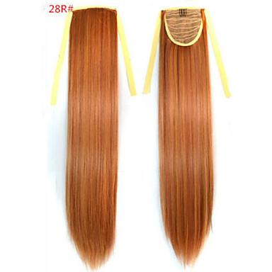 povoljno Perike i ekstenzije-Ravan kroj sintetički Kose za kosu Ugradnja umetaka 18 inčni # 28