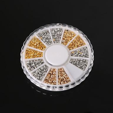 beadia заключения ювелирных изделий ассорти Размер 2.0mm 2.5mm 3mm обжимной конечные бусины латунь бисер маленький разделительные бусины