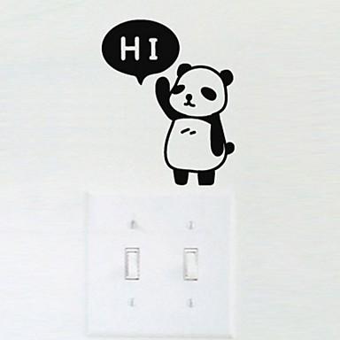 Tiere Wand-Sticker Flugzeug-Wand Sticker Lichtschalter Sticker, Vinyl Haus Dekoration Wandtattoo Wand