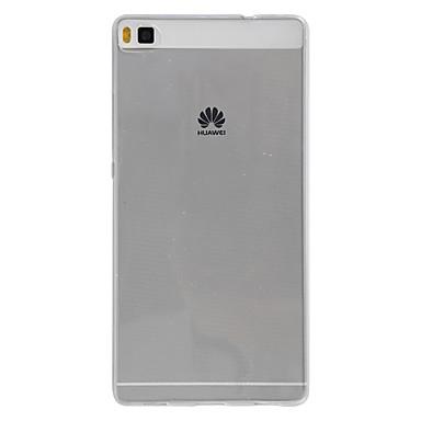Pouzdro Uyumluluk Huawei P8 Huawei Huawei P8 Lite P8 Lite P8 Huawei Kılıf Şeffaf Arka Kapak Tek Renk Yumuşak TPU için Huawei P8 Lite