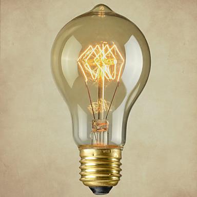 1шт 40 Вт E27 E26/E27 E26 A60(A19) Белый 2300 К Лампа накаливания Vintage Эдисон лампочка Лампа накаливания AC110-240 AC 110-220 AC
