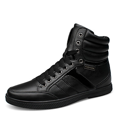 Men's Shoes Office & Career / Athletic / Casual Leather Fashion Sneakers Black