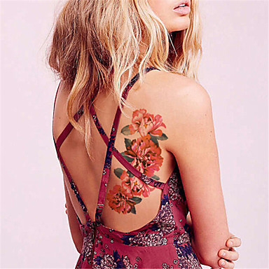 Dövme Etiketleri Çiçek Serisi Non Toxic Waterproof Kadın Erkek Yetişkin Genç flaş Dövme geçici Dövme