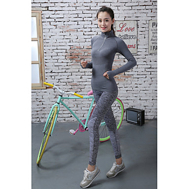 Women's Running Baselayer / Running Tights / Gym Leggings - Red, Blue, Grey Sports Solid Colored Tights Activewear Quick Dry