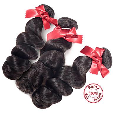 evet 2015 νέο στυλ 6α 100% των μη επεξεργασμένων ειδών παρθένα περουβιανή χαλαρό κύμα 3 δέσμες φυσικό χρώμα επέκταση μαλλιά