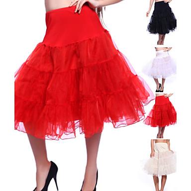 Düğün / Özel Anlar / Parti / Gece Slipler Organze / Tül Diz-uzunluğunda A-Line Alt Giyimi / Klasik & Zamansız ile