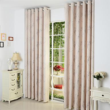 Rypytysnauha Purjerengas Kangaslenkki Tuplavekki 2 paneeli Window Hoito Kantri, Jakardi Living Room Polyester/puuvillaseos materiaali