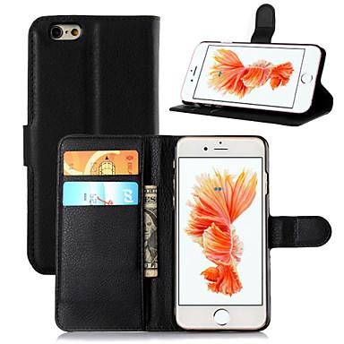 Uyumluluk iPhone 8 iPhone 8 Plus iPhone 6 iPhone 6 Plus Kılıflar Kapaklar Cüzdan Kart Tutucu Satandlı Flip Tam Kaplama Pouzdro Tek Renk