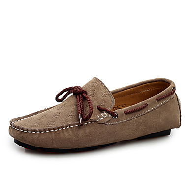 Men's Shoes Suede Winter Spring Summer Fall Comfort Novelty Boat Shoes for Casual Office & Career Party & Evening Gray Blue Burgundy