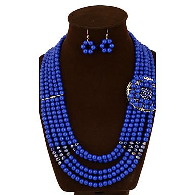 Kaulakoru / Korvakorut - Metalliseos / Väritön zirkonia / Akryyli / Jalokivi ja kristalli , Vintage / Juhla / Toimisto / Vapaa-aika ,