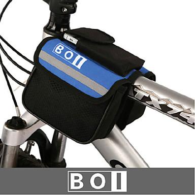billige Sykkelvesker-BOI 1.9 L Mobilveske Vesker til sykkelstyre Vanntett Anvendelig Støtsikker Sykkelveske Klede 600D Ripstop Sykkelveske Sykkelveske iPhone X / iPhone XR / iPhone XS Sykling / Sykkel / Vanntett Glidelås