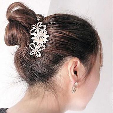 Südkoreas hochwertigem Ornamente in Kämme Haarspange Diamant Perlen Twist die Blume Bogen