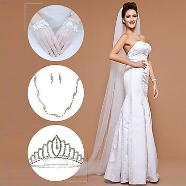 Damskie Kryształ górski Stop Ślub Biżuteria do włosów Náušnice Naszyjniki Biżuteria kostiumowa