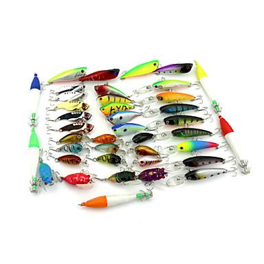 40pcs pcs Fretin / leurres de pêche Fretin Others 6.3g,8.3g,7.5g,11g,7.5g,11g,4.2g,6.4g g Once mm/4-1/4