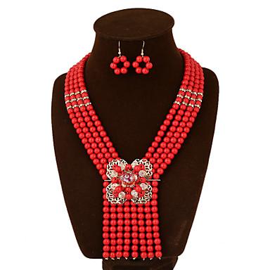 Damskie Zestawy biżuterii Vintage Imprezowa Do biura Na co dzień Europejski Modny Ślub Impreza Specjalne okazje Urodziny Kamień
