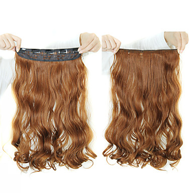 Synthetic Hair Hair Extension Curly Classic Clip In Daily High Quality