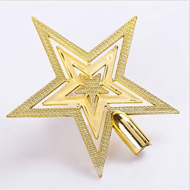 sıcak yeni yılbaşı altın ağaç üst yıldız şenlikli parti ağaç Kaban dekor süsleme