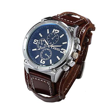 Herrn Armbanduhr Armbanduhren für den Alltag Leder Band Luxus Schwarz / Weiß / Braun / Sony S626 / Zwei jahr