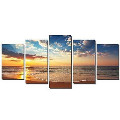 Canvas Set Landscape Traditional, Five Panels Horizontal Print Wall Decor Home Decoration